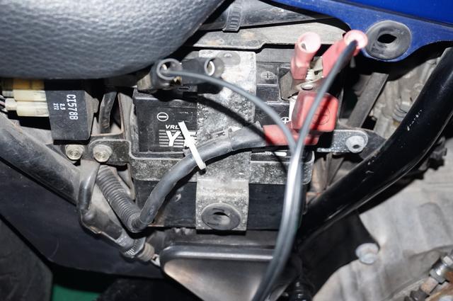 ナイトホーク250 バッテリー充電