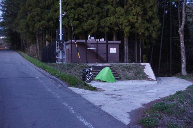 長野県北部ツーリング 1日目の野宿ポイント