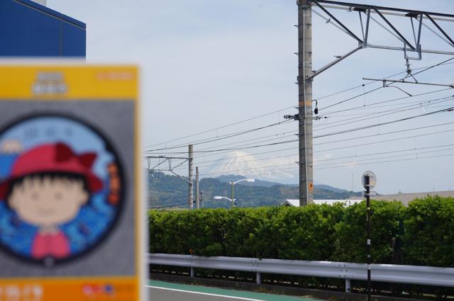 清水駅からの富士山